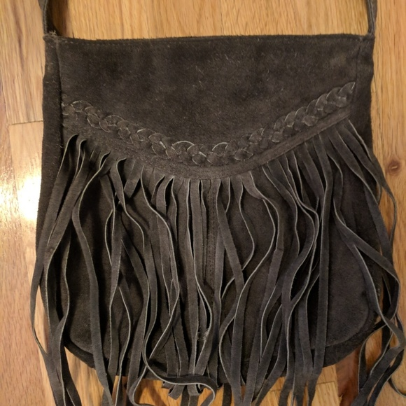 EARTHBOUND Handbags - Fringe Leather Purse